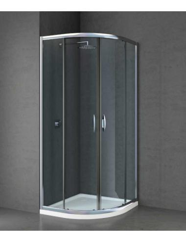 Box doccia semicircolare 80x80 cristallo Trasparente 6mm RAINBOX